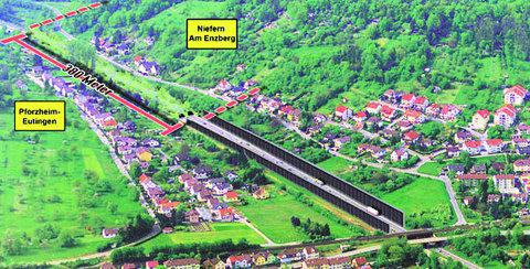 Die Region verstärkt den Druck auf das Regierungspräsidium in Karlsruhe, das Verfahren für den Ausbau der Autobahn im Enztal zu beschleunigen. Das Land solle dazu den bisher geplanten Deckel über die A8 bei Kieselbronn, Niefern und Eutingen verlängern.5